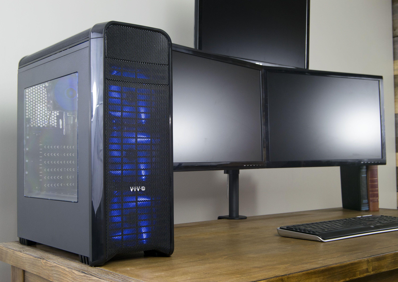VIVO ATX Mid Tower Computer Gaming PC Case Black USB 3.0 Port 4 Fan Mounts