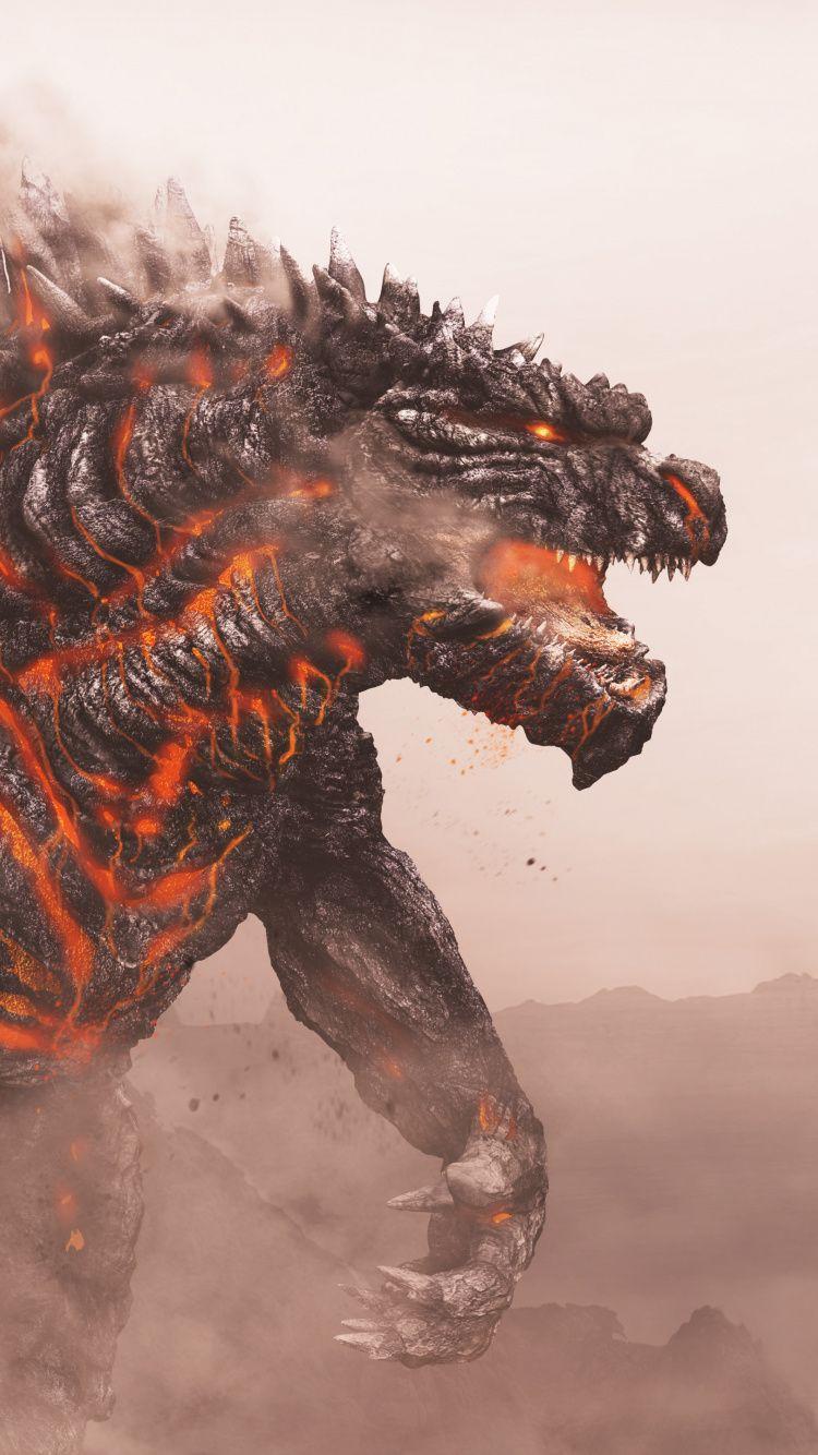 Godzilla King Of Monster Artwork Wallpaper Wallpaper Digital Artwork Artwork