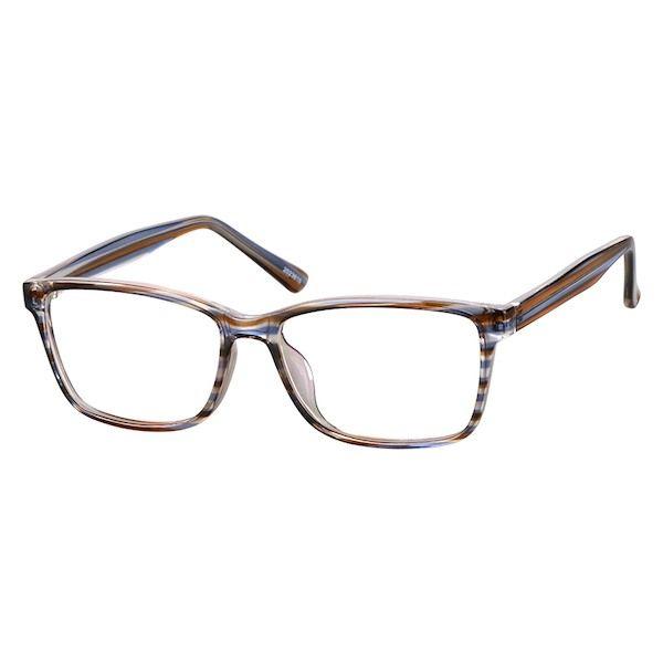 f1ac9d771ba Zenni Womens Rectangle Prescription Eyeglasses Brown TR 2023615 in ...