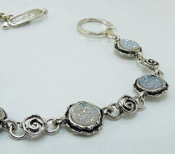 Het verbazen van moderne Sterling Zilver Druzi armband (ik b)