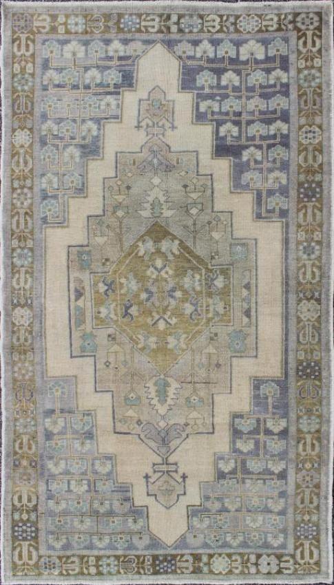 """KEIVAN WOVEN ARTS,   Type :Oushak Origin :Turkey  Size : 4'8""""x8'5""""  Circa :1940"""
