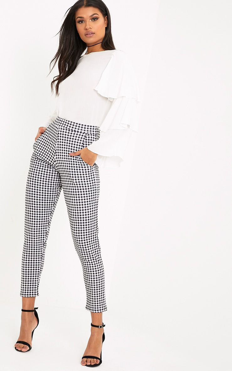 950259bc2986df Sage Black Gingham Trousers | Companies in 2019 | Gingham pants ...