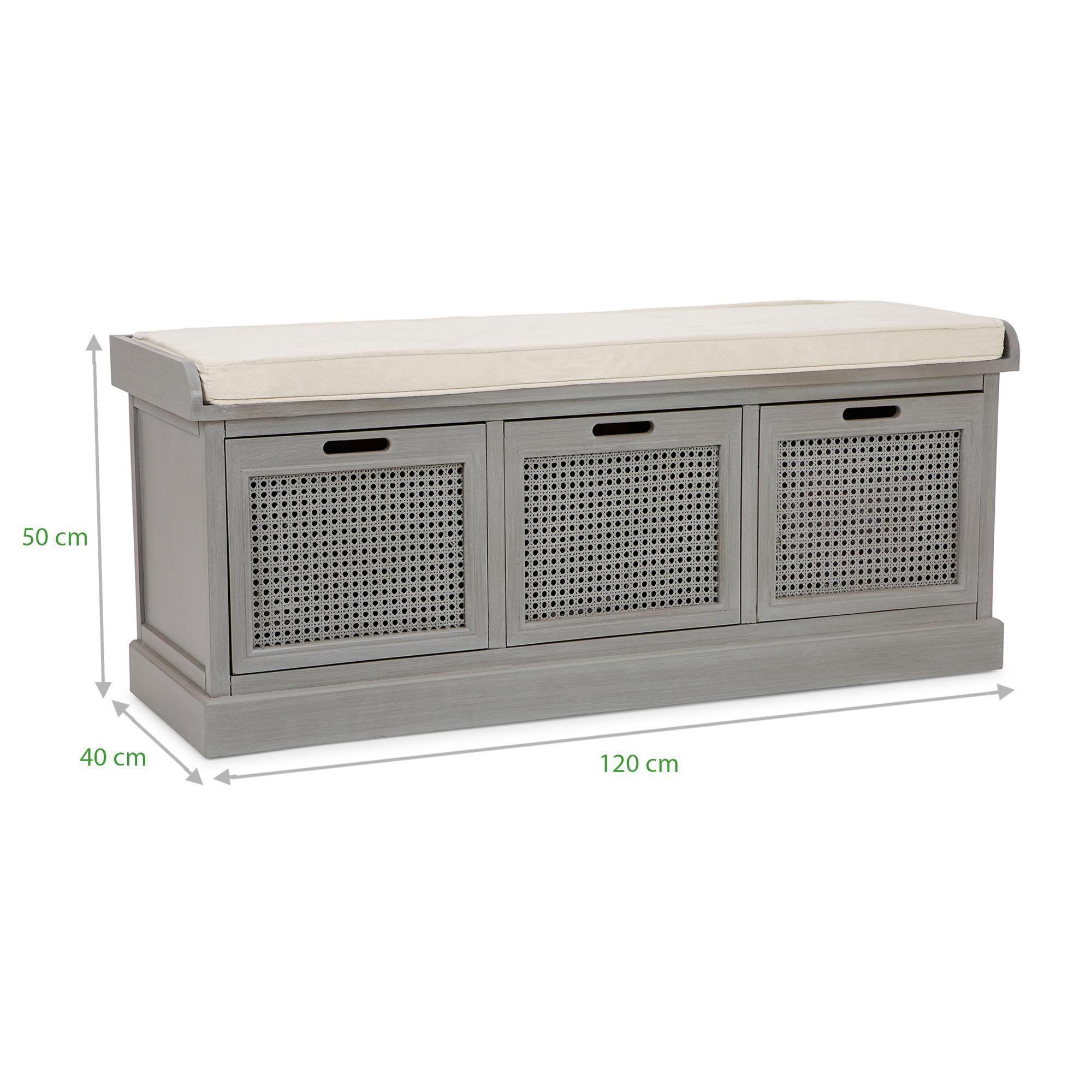 Lucy Cane Grey Storage Bench In 2020 Grey Storage Bench Living