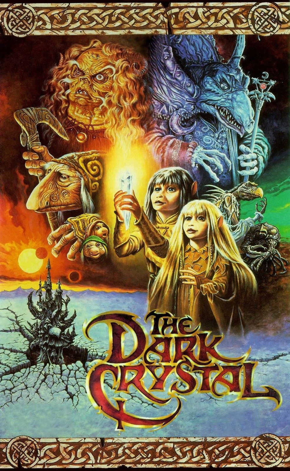 Dark Crystal Movie Poster 8X10 Fabric Block - Great 4 Embroidery And ...