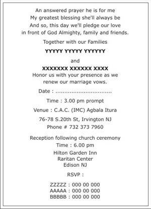 Religious Wedding Invitation Wording Samples