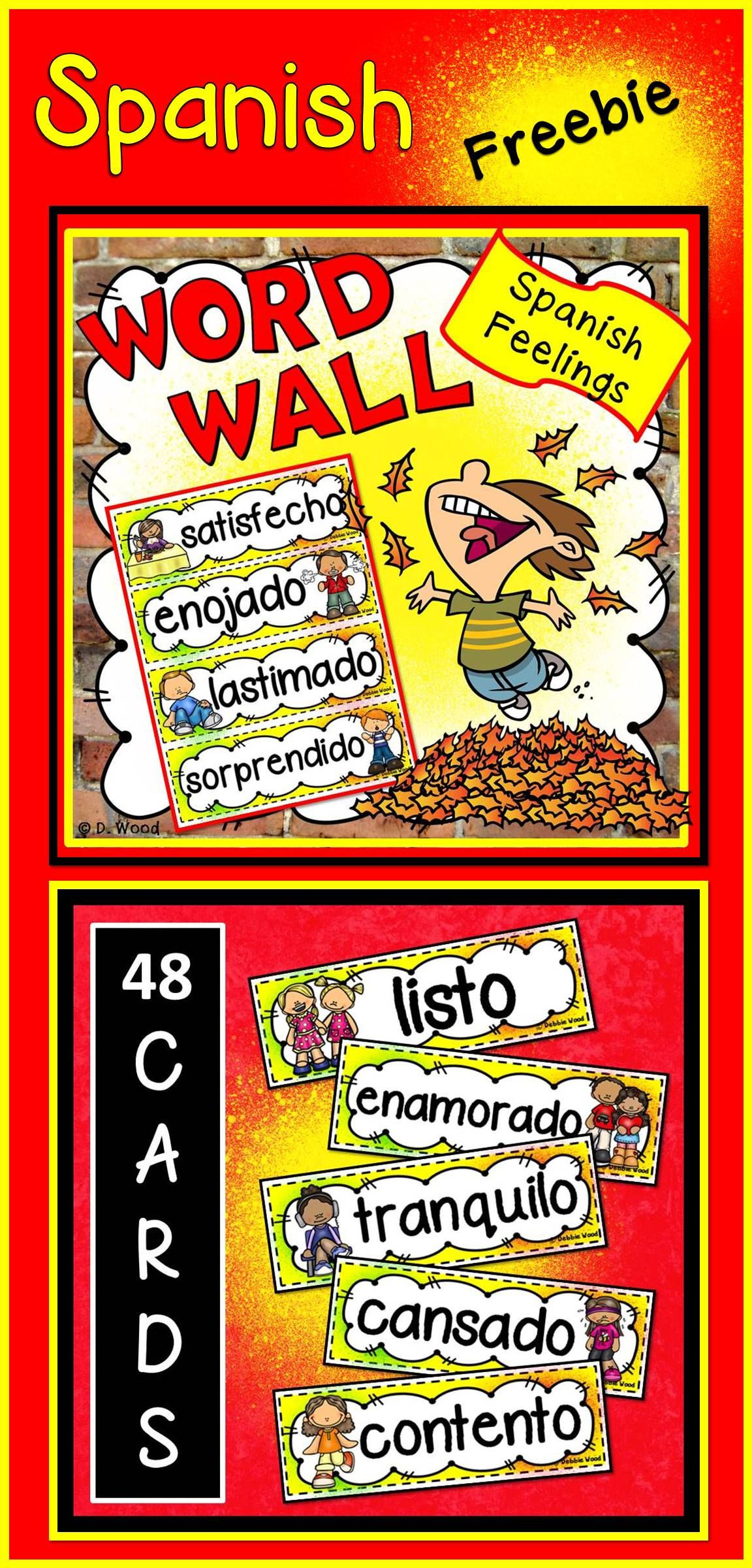 Spanish Classroom Decor Word Wall