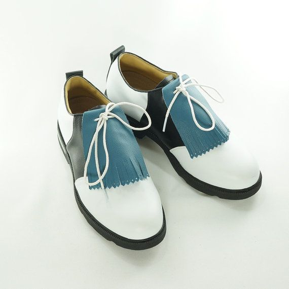 9ef265f6cbd65 Blue Leather SHOE KILTIES - Mens Kiltie Shoe Tassels for Golf Shoes ...