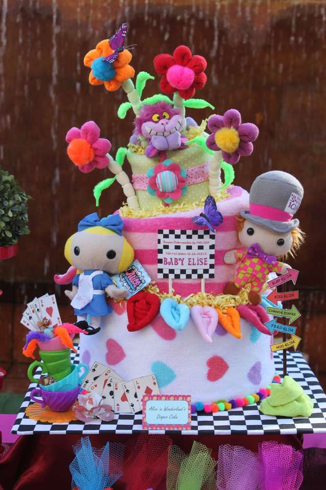 Alice In Wonderland Mad Tea Party Baby Shower Party Ideas Baby