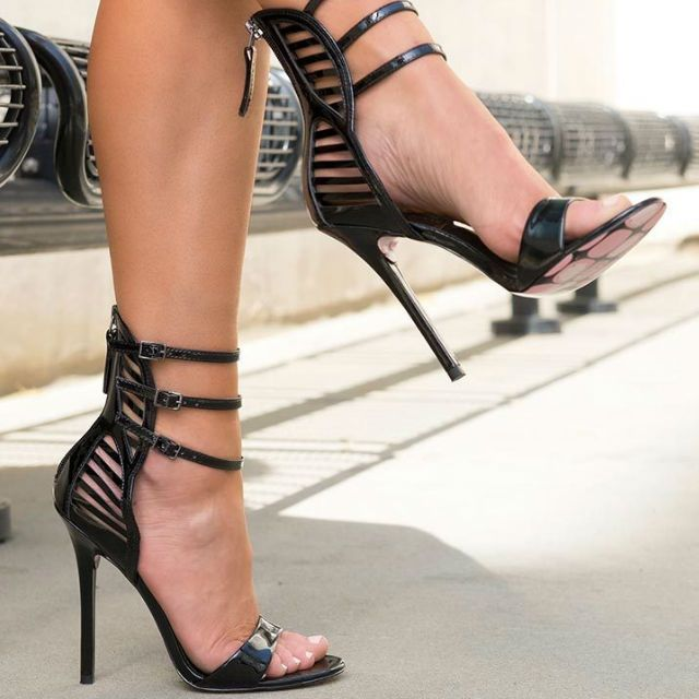 Taylor Says Miss Skully Strap Heels