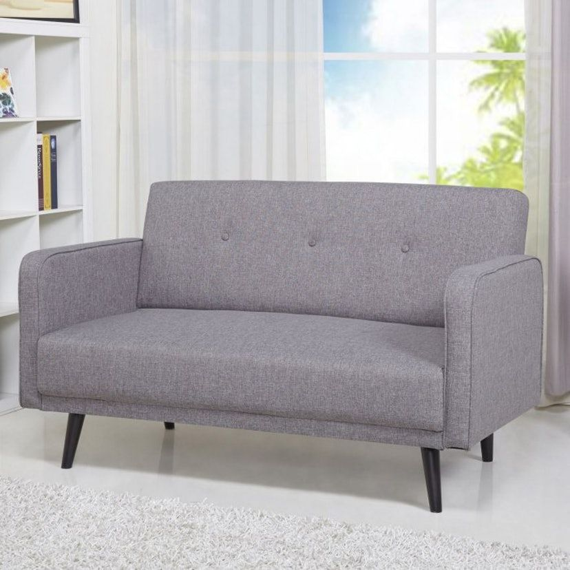 Astounding This Loveseat From Target Is Perfect For Small Living Rooms Bralicious Painted Fabric Chair Ideas Braliciousco