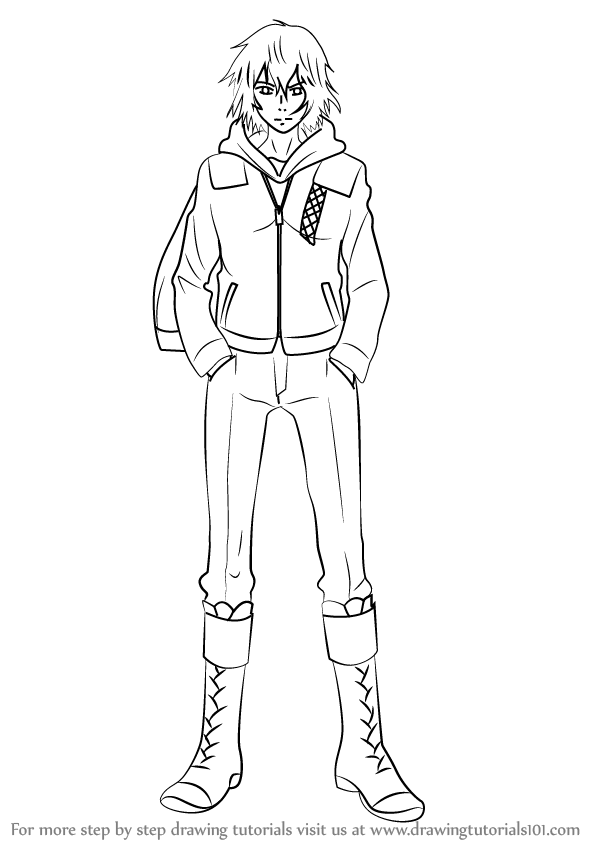 How To Draw Ayato Kirishima From Tokyo Ghoul Drawingtutorials101 Com Ayato Kirishima Kirishima Ayato