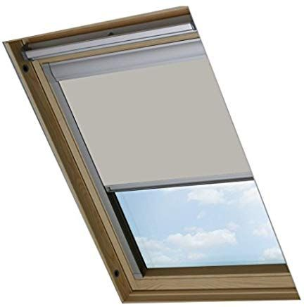Bloc Skylight Mk08 Rollo Fur Velux Dachfenster Blockout Pale Stein