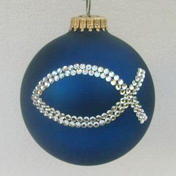 Christian Ornaments   Double Ichthus Ornament - Christmas ...