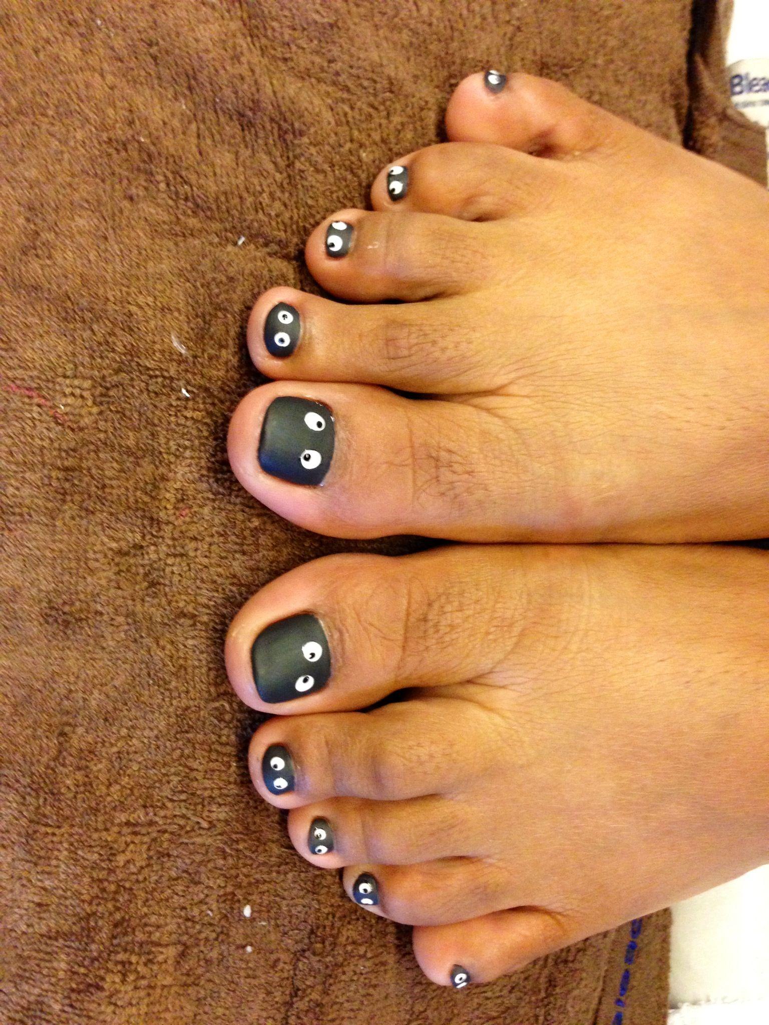 Ghost nails | Cute toe nails, Pedicure designs toenails ...