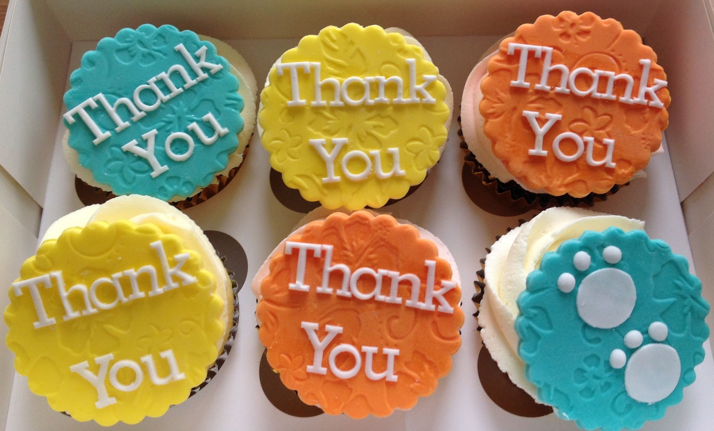 Simple Thank You Cupcake Toppers Thank You Cupcakes Cookies No