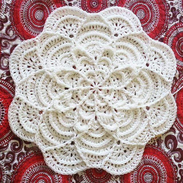 Flower Puddles Ripples Blanket pattern by Madlandia Forever ...