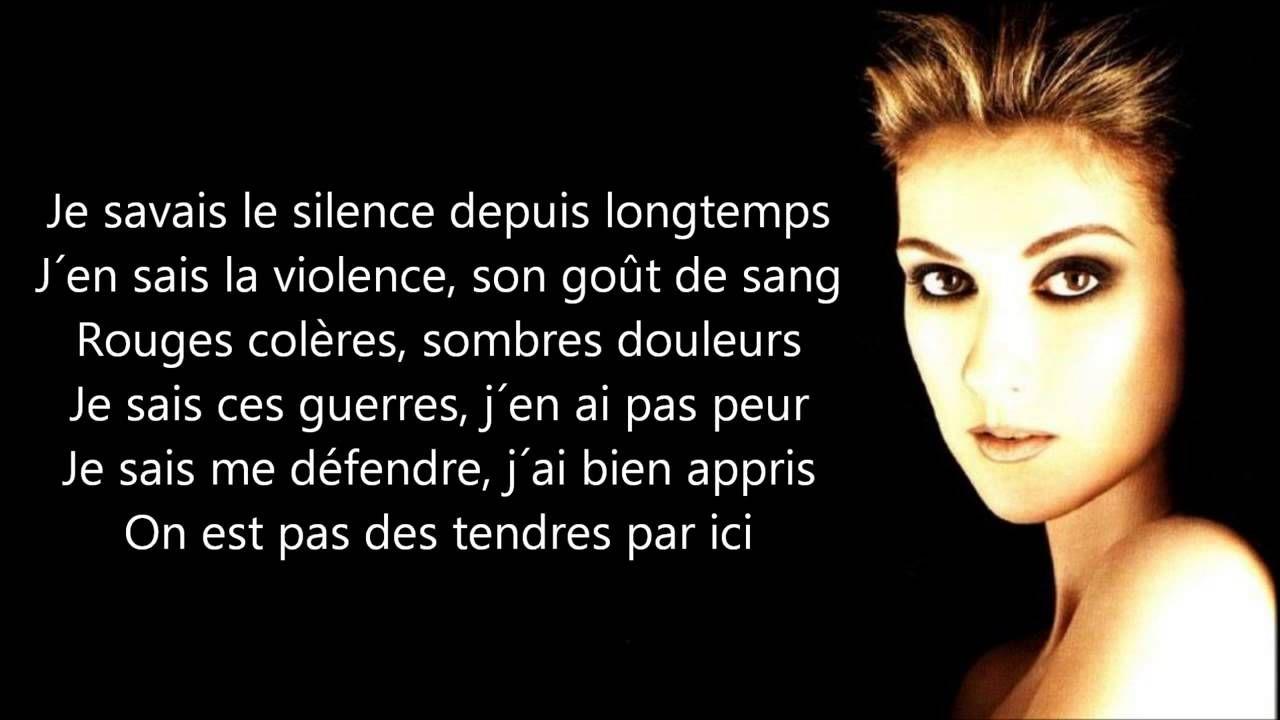 Céline Dion Je Sais Pas Paroles Youtube Celine Dion Chanson Céline Dion Paroles De Chansons