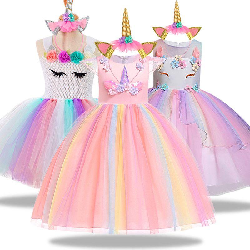 Christmas New Year Carnival Princess Costume Kids Dress