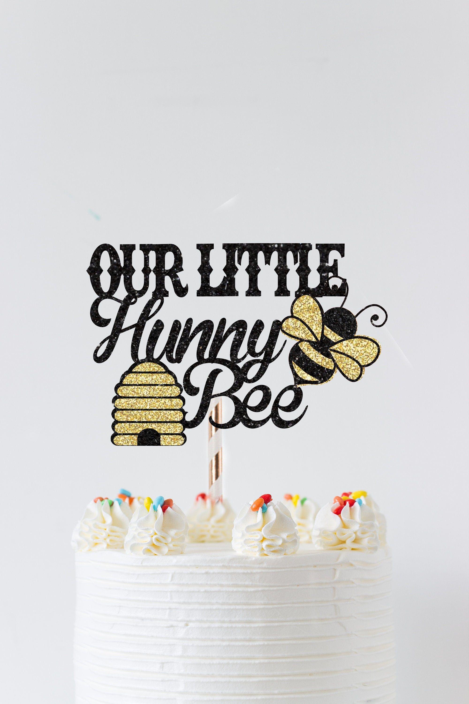 sunflower cake topper daisy cake smash topper Bee theme cake topper 1st birthday cake topper bee birthday decor
