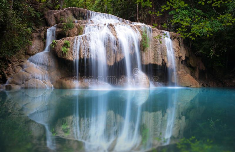 Thailand Nature Background Beautiful Waterfall In Rainforest Thailand Nature B Sponsored Beautiful W Nature Backgrounds Beautiful Waterfalls Waterfall
