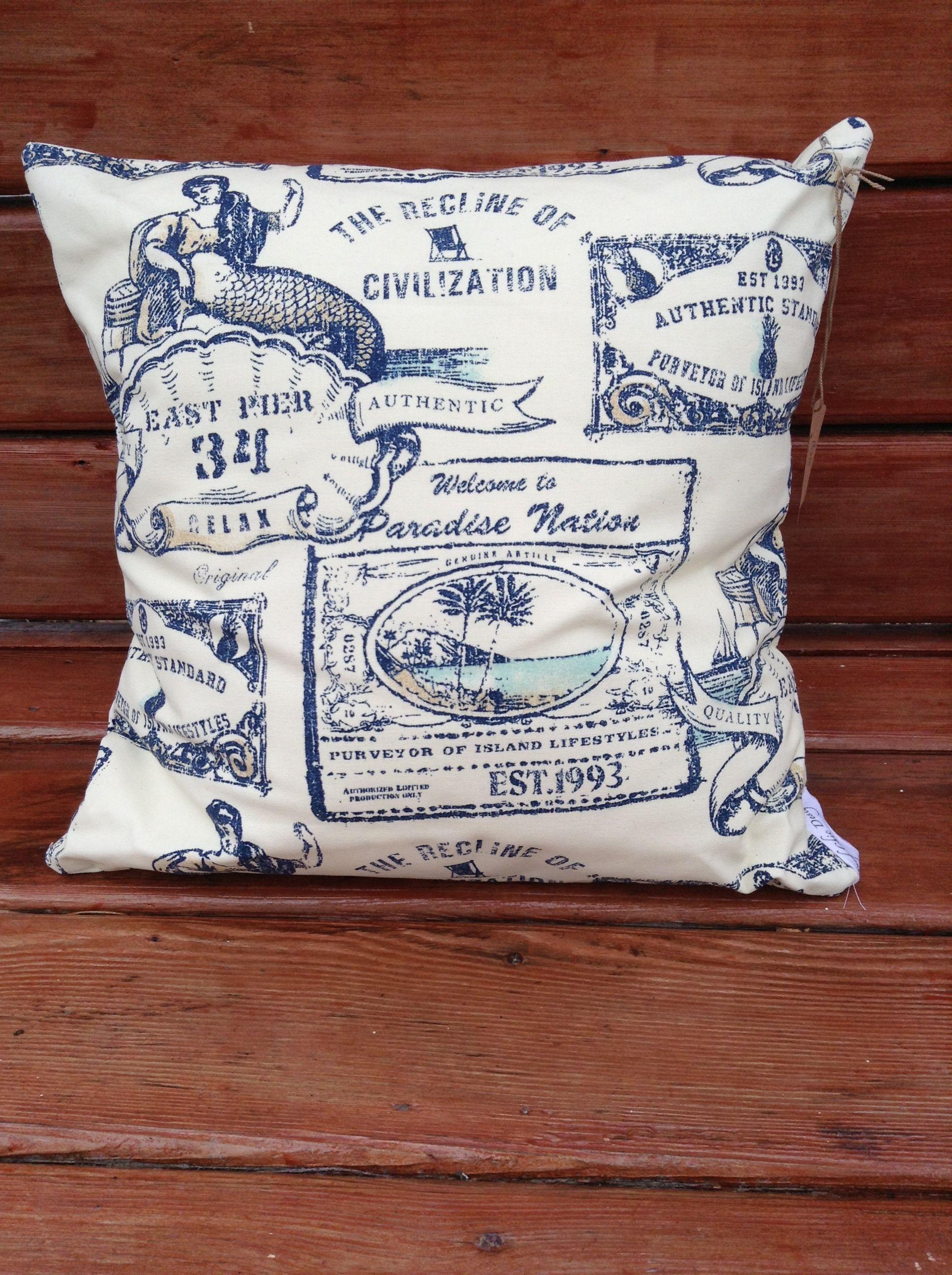 Throw pillow beachy pillow nautical pillow mermaid pillow