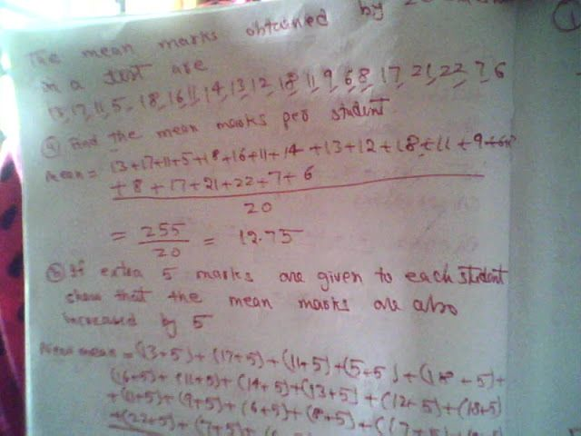 Maths: Calculating arithmetic mean
