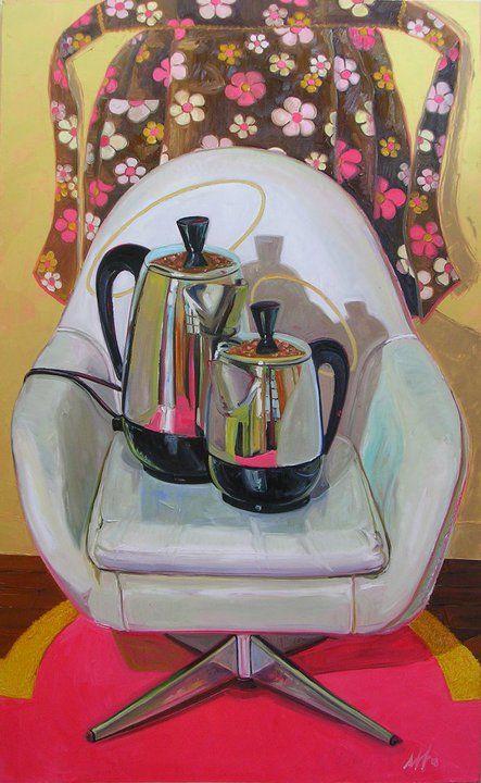 "Perker Maesta, Oil on Linen, 36"" x 52"", ©2008 Jennie Traill Schaeffer."