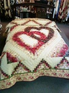 A Special Gift My Double Heart Watercolor Quilt Rick Rack And