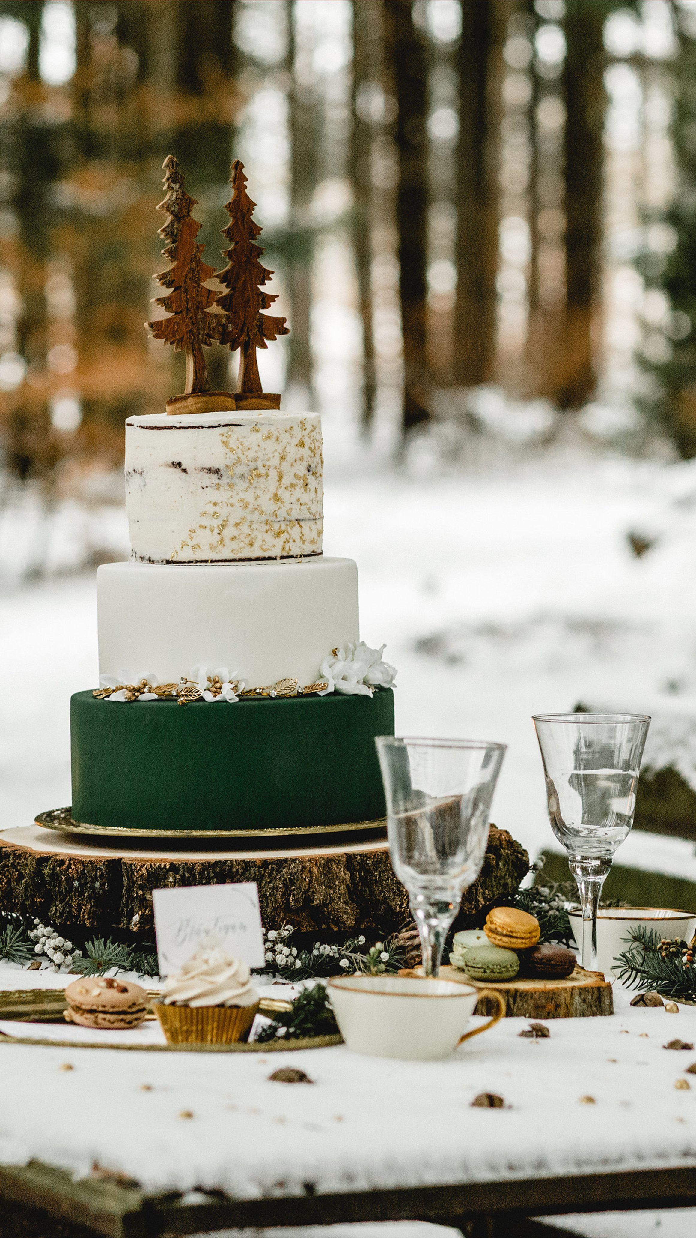 Eine Winterliche Hochzeit Winter Hochzeit Hochzeitstorte Wald
