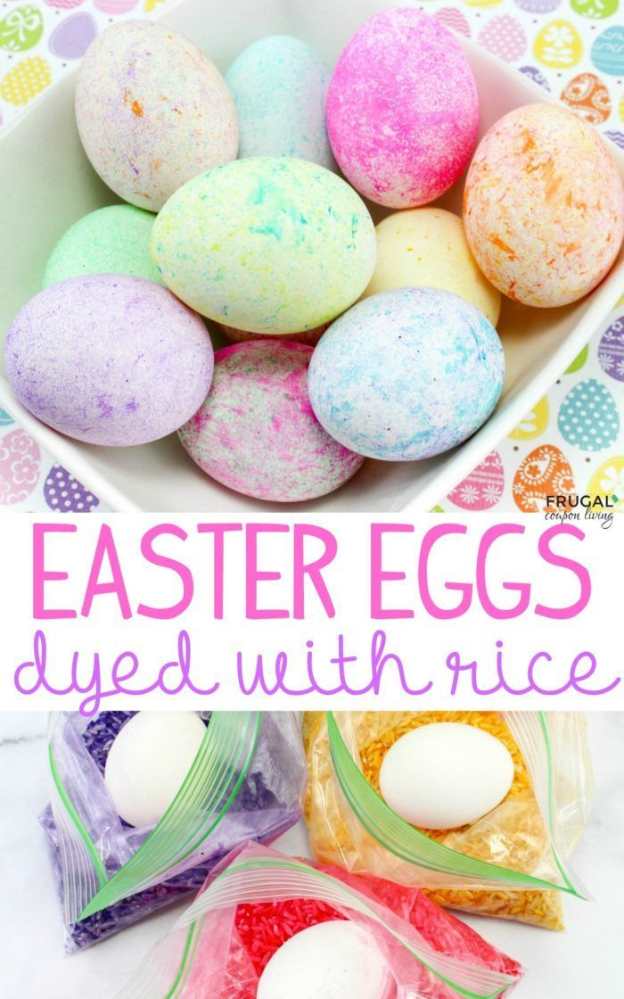 Coloring Eggs W Rice