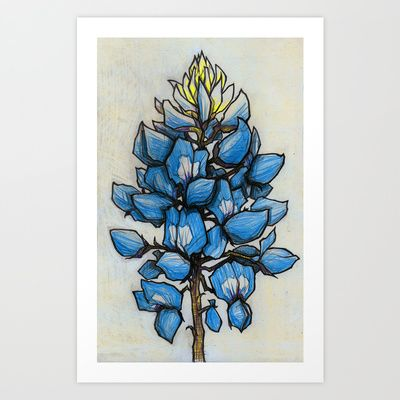 Buy TEXAS BLUEBONNET  by Matt Mims as a high quality Art Print. Worldwide shipping available at Society6.com. Just one of millions of products available.