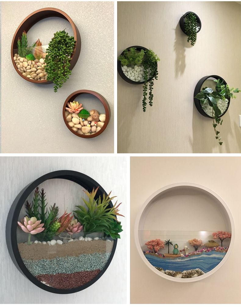 22 Creative Round Plant Pot Wall Hanging Design For Your Home Decor Inspiration Wall Vase Wall Hanging Designs Wall Planter
