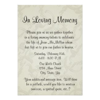 Image Result For Memorial Invitation Templates  Memorial
