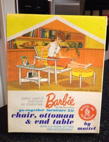 1963 Mattel Barbie Quot Go Together Furniture Quot Kit Chair Set