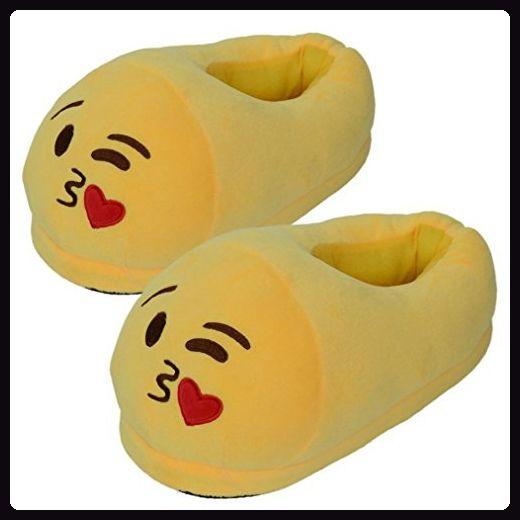 Herren Damen Winter Hausschuh Kolylong® emoji emoticon