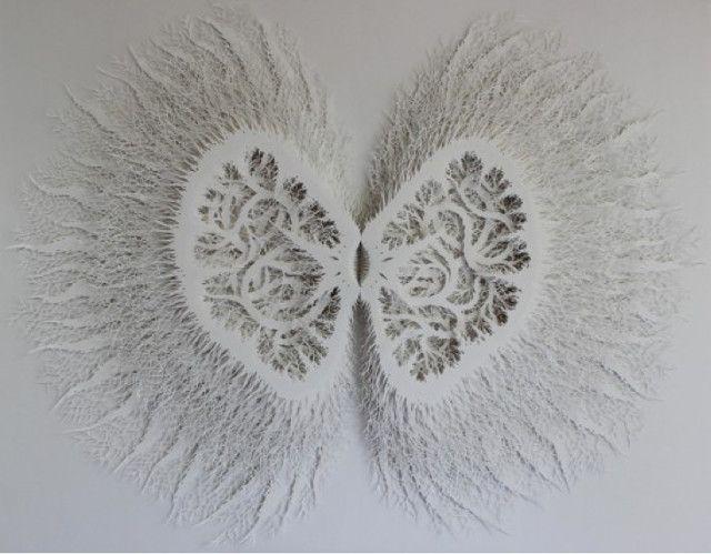 Paper sculpture / Rogan Brown