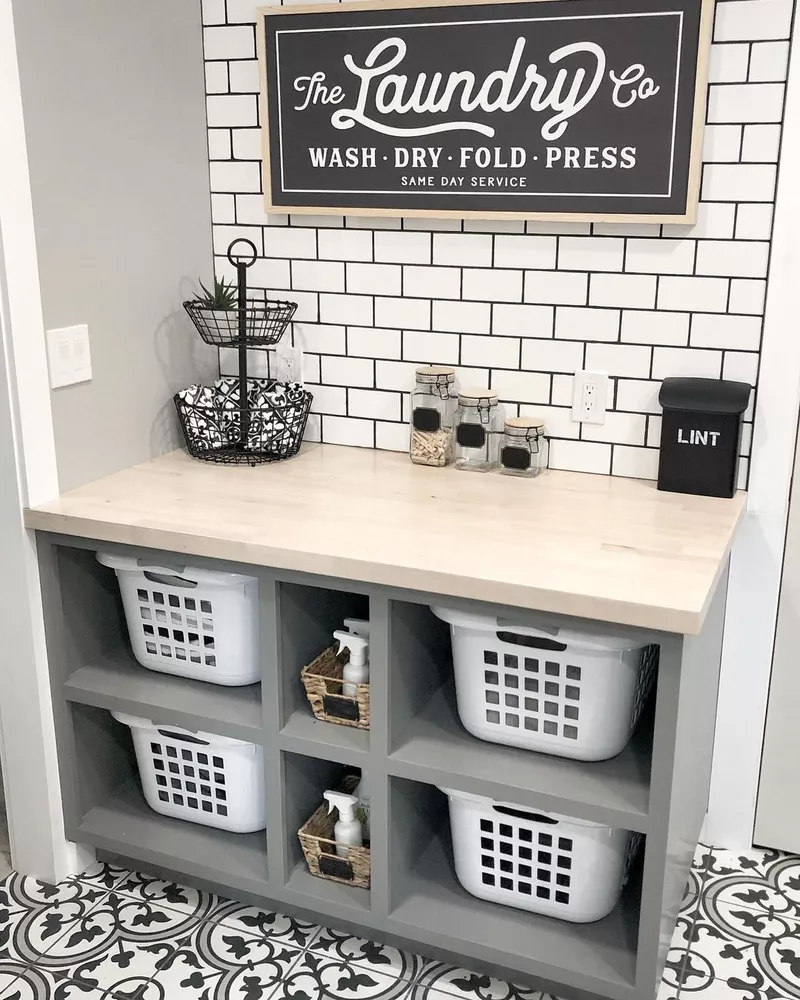 Photo of 19 Gorgeous Laundry Room Shelving Ideas For an Organized Space