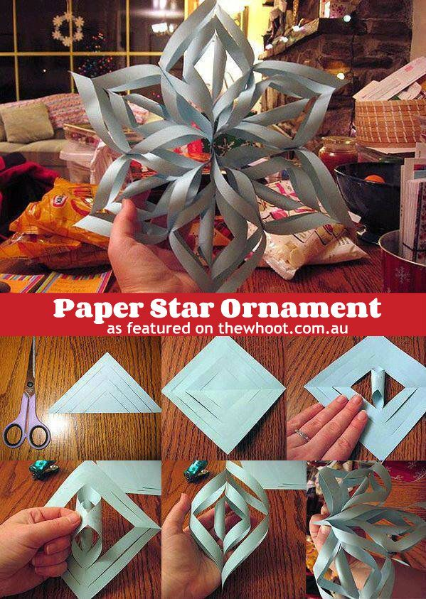 Christmas Craft Ideas Pinterest Favorites The Whoot Christmas Crafts 3d Paper Snowflakes Holiday Crafts