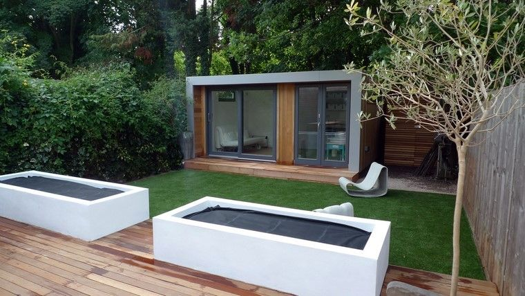 diseño de jardines modernos preparacion plantas jardineras | Jardín ...