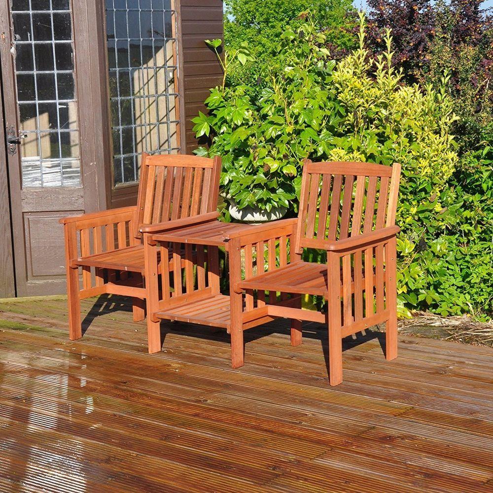 Garden Love Seat 2 Seater Hardwood Outdoor Furniture Set