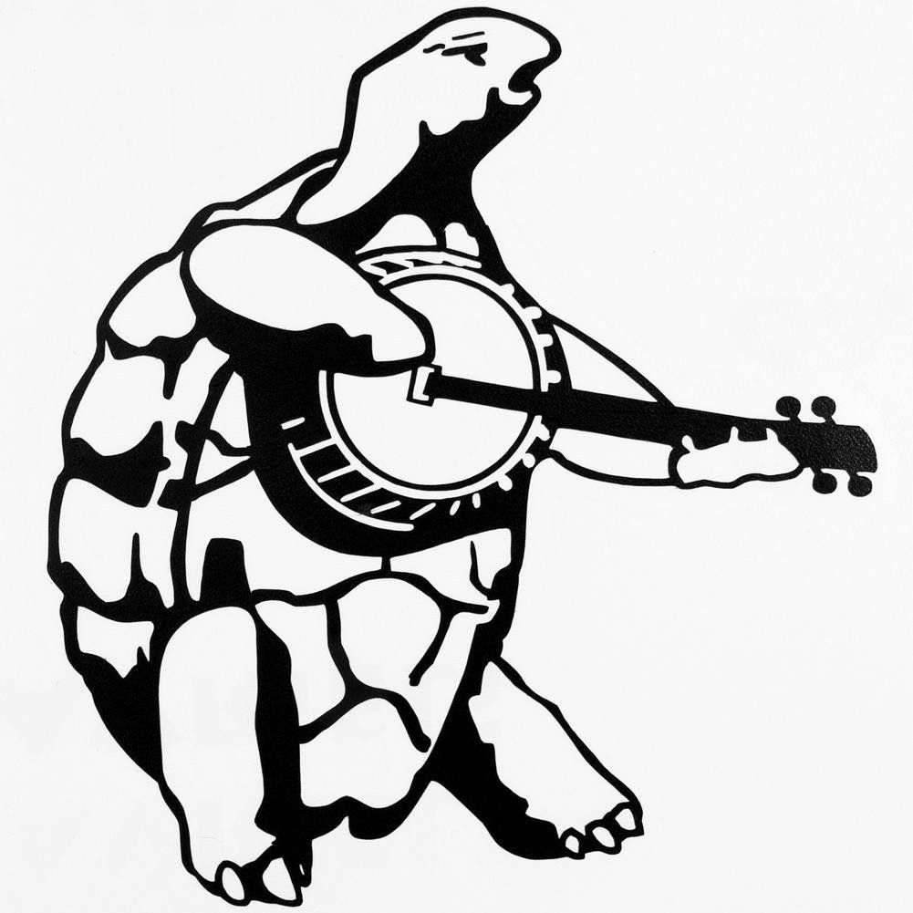 Grateful Dead Black Terrapin Banjo Cutout Decal Grateful Dead