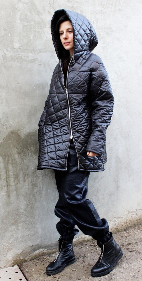 2479506f44c Quilted Jacket Warm Waterproof Fashion Jacket Asymmetrical Jacket Plus Size  Jacket Oversize Winter O
