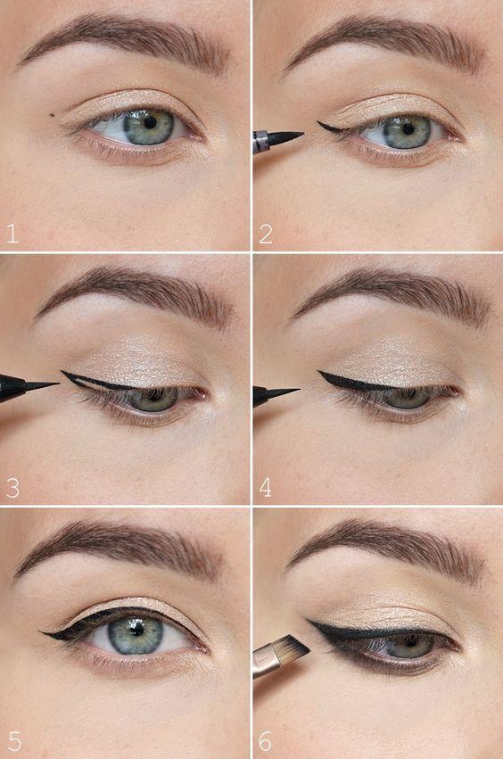 Der einfachste Weg, um geflügelten Eyeliner zu machen. Der einfachste Weg, um geflügelten Eyeline
