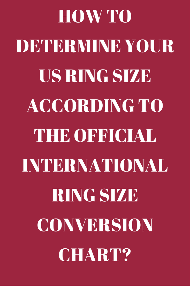 How To Determine Your Us Ring Size According To The Official