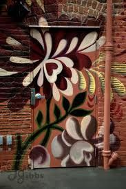 floral grafitti door