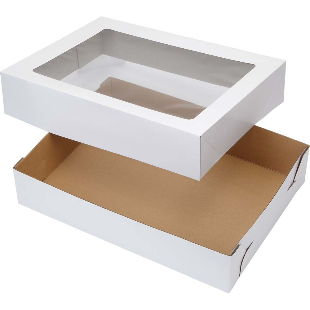 19 X 14 Inch White Cake Boxes With Windows 2 Count In 2020 Box Cake Sweet Box Cake Decorating Supplies