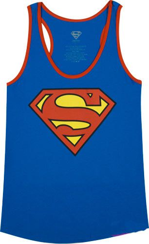 Camiseta chica tirantes Superman. Logo