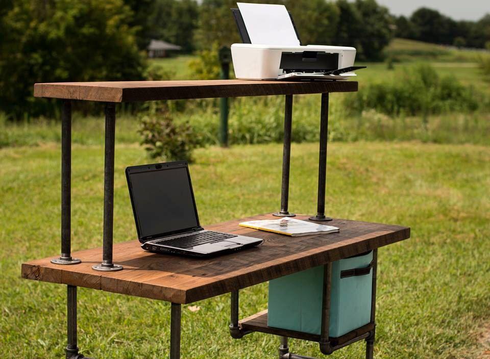 Reclaimed Wood Desk, Computer Desk, Home Office Desk, Barn Wood Desk, Shabby