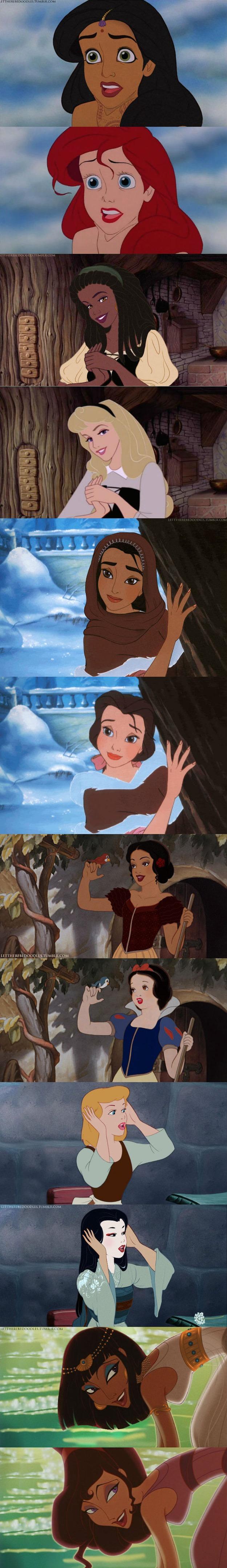 Disney Princess with different ethnic