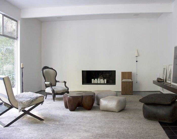 International Style At Home With LA's Stealth Stylemakers Design Cool Dosa Pouf